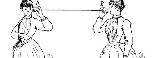 Public domain Trådtelefon illustration