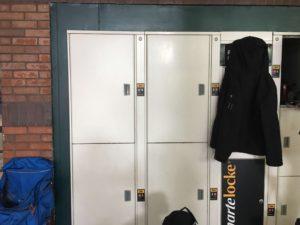 storage locker at Portland bus station